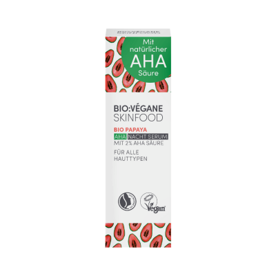 biovegane organic papaya aha night serum